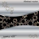 Abstrakcjonistyczny techno tło z metal przekładniami. royalty ilustracja