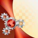 Abstrakcjonistyczny technologiczny pomysł ilustracja wektor