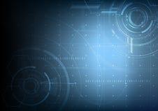 Abstrakcjonistyczny technologiczny przyszłościowy interfejsu projekta wektoru backgro Zdjęcie Stock