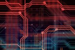 Abstrakcjonistyczny technologiczny tła składać się z bezlik o Zdjęcia Stock