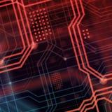 Abstrakcjonistyczny technologiczny tła składać się z bezlik o Zdjęcia Royalty Free