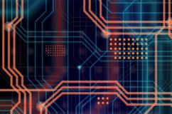 Abstrakcjonistyczny technologiczny tła składać się z bezlik o Zdjęcie Stock