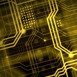 Abstrakcjonistyczny technologiczny tła składać się z bezlik o Obraz Stock