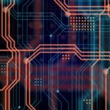 Abstrakcjonistyczny technologiczny tła składać się z bezlik o Fotografia Stock