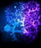 Abstrakcjonistyczny technologiczny tło z różnorodnym technologicznym ele Zdjęcie Royalty Free