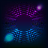 Abstrakcjonistyczny technologii błękit Okrąża tło ilustracja wektor