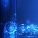 Abstrakcjonistyczny technologii cyfrowej pojęcia tło, wektorowa ilustracja Obraz Stock