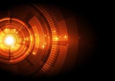 Abstrakcjonistyczny technologii cyfrowej pojęcie Wektorowy tło Zdjęcia Royalty Free