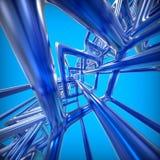 Abstrakcjonistyczny technologii 3D tło Zdjęcie Stock