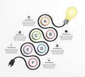 Abstrakcjonistyczny technologii infographics projekta szablon Zdjęcie Stock