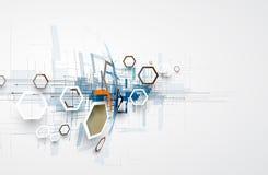 Abstrakcjonistyczny technologii tła biznes & rozwoju kierunek Zdjęcia Royalty Free