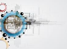 Abstrakcjonistyczny technologii tła biznes & rozwoju kierunek Obraz Stock