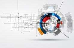 Abstrakcjonistyczny technologii tła biznes & rozwoju kierunek ilustracja wektor