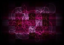 Abstrakcjonistyczny technologii tła interneta sygnału związek Zdjęcie Stock