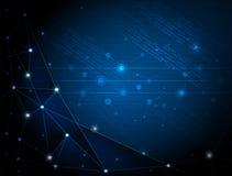 Abstrakcjonistyczny technologii tło z cyberprzestrzenią Fotografia Stock