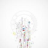 Abstrakcjonistyczny technologii tło z różnorodnymi technologicznymi elemen ilustracja wektor