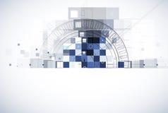 Abstrakcjonistyczny technologii tła biznes & rozwój Zdjęcia Stock