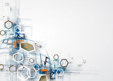 Abstrakcjonistyczny technologii tła biznes & rozwoju kierunek Obrazy Royalty Free