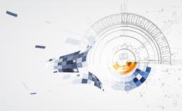 Abstrakcjonistyczny technologii tła biznes & rozwoju kierunek Zdjęcie Royalty Free