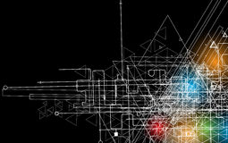 Abstrakcjonistyczny technologii tła biznes & rozwoju kierunek Fotografia Stock