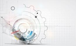 Abstrakcjonistyczny technologii tła biznes & rozwoju kierunek Fotografia Royalty Free