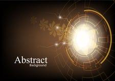 Abstrakcjonistyczny technologii tło z kwiatem iluminuje Zdjęcie Stock