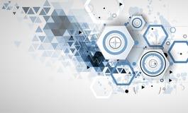 Abstrakcjonistyczny technologii tła biznes & rozwoju kierunek Zdjęcia Stock