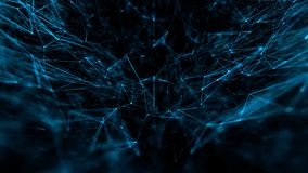 Abstrakcjonistyczny tehnology lub medyczny sieć związek kropek linie z głębią pole i cząsteczki royalty ilustracja