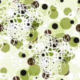 Abstrakcjonistyczny tekstylny bezszwowy wzór kolorowe zielone kropki ilustracji