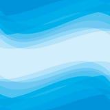 Abstrakcjonistyczny tło - Geometryczny wektoru wzór niebieska abstrakcyjnych fale Zdjęcia Royalty Free
