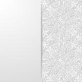 Abstrakcjonistyczny tło z tradycyjnym ornamentem Zdjęcie Stock