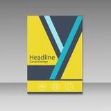Abstrakcjonistyczny trójbok linii broszurki pokrywy projekt A4 rozmiaru szablon Zdjęcie Stock