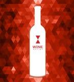 Abstrakcjonistyczny trójboka wina tło Zdjęcia Stock