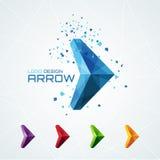 Abstrakcjonistyczny trójgraniasty strzałkowaty logo Fotografia Stock