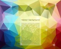 Abstrakcjonistyczny trójgraniasty wektorowy tło Zdjęcie Stock