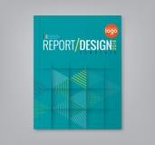 Abstrakcjonistyczny trójbok kształtuje tło dla biznesowego sprawozdania rocznego książkowej pokrywy Obrazy Royalty Free