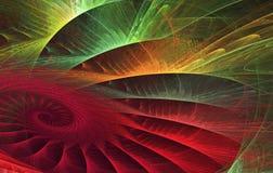 Abstrakcjonistyczny tropikalny liść Obraz Royalty Free