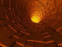 abstrakcjonistyczny tunel ilustracji
