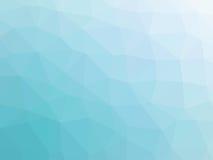Abstrakcjonistyczny turkusowego błękita gradientowy niski wielobok kształtował tło Zdjęcie Royalty Free