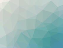 Abstrakcjonistyczny turkusowego błękita gradientowy niski wielobok kształtował tło Obraz Royalty Free