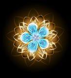 Abstrakcjonistyczny turkusowy kwiat Zdjęcia Royalty Free