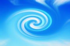 Abstrakcjonistyczny twirl kolor w czerni Zdjęcia Stock