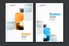 Abstrakcjonistyczny ulotka projekta tło broszurka szablon