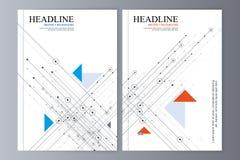 Abstrakcjonistyczny ulotka projekta tło broszurka szablon ilustracji