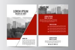 Abstrakcjonistyczny ulotka projekta tło broszurka szablon Obraz Stock
