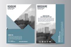 Abstrakcjonistyczny ulotka projekta tło broszurka szablon Fotografia Stock
