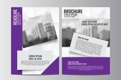 Abstrakcjonistyczny ulotka projekta tło broszurka szablon Obrazy Royalty Free