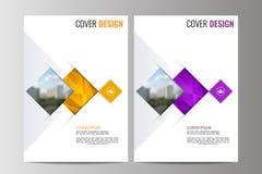 Abstrakcjonistyczny ulotka projekta tło broszurka szablon Obrazy Stock