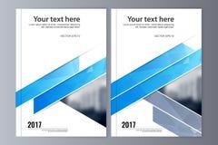 Abstrakcjonistyczny ulotka projekta tło broszurka szablon Zdjęcia Stock