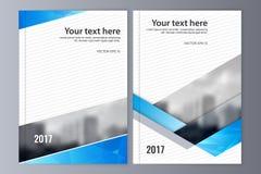Abstrakcjonistyczny ulotka projekta tło broszurka szablon Zdjęcie Royalty Free